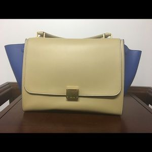 Céline Medium Trapeze - Blue and Beige